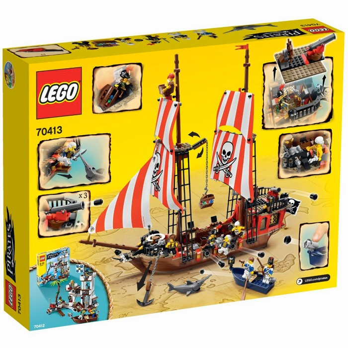 lego pirates le bateau pirate lego 70413 la famille. Black Bedroom Furniture Sets. Home Design Ideas