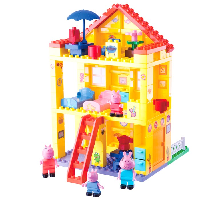la maison de peppa pig playbig bloxx la famille d mo jouets. Black Bedroom Furniture Sets. Home Design Ideas