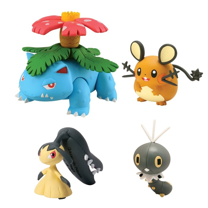 Pack 4 Figurines Pokémon X et Y - Tomy