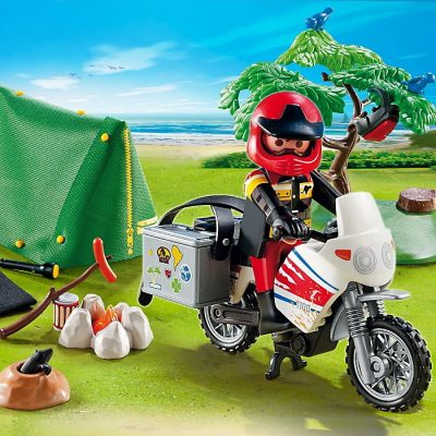 Playmobil Summer Fun Motard et Tente de Camping - 5438